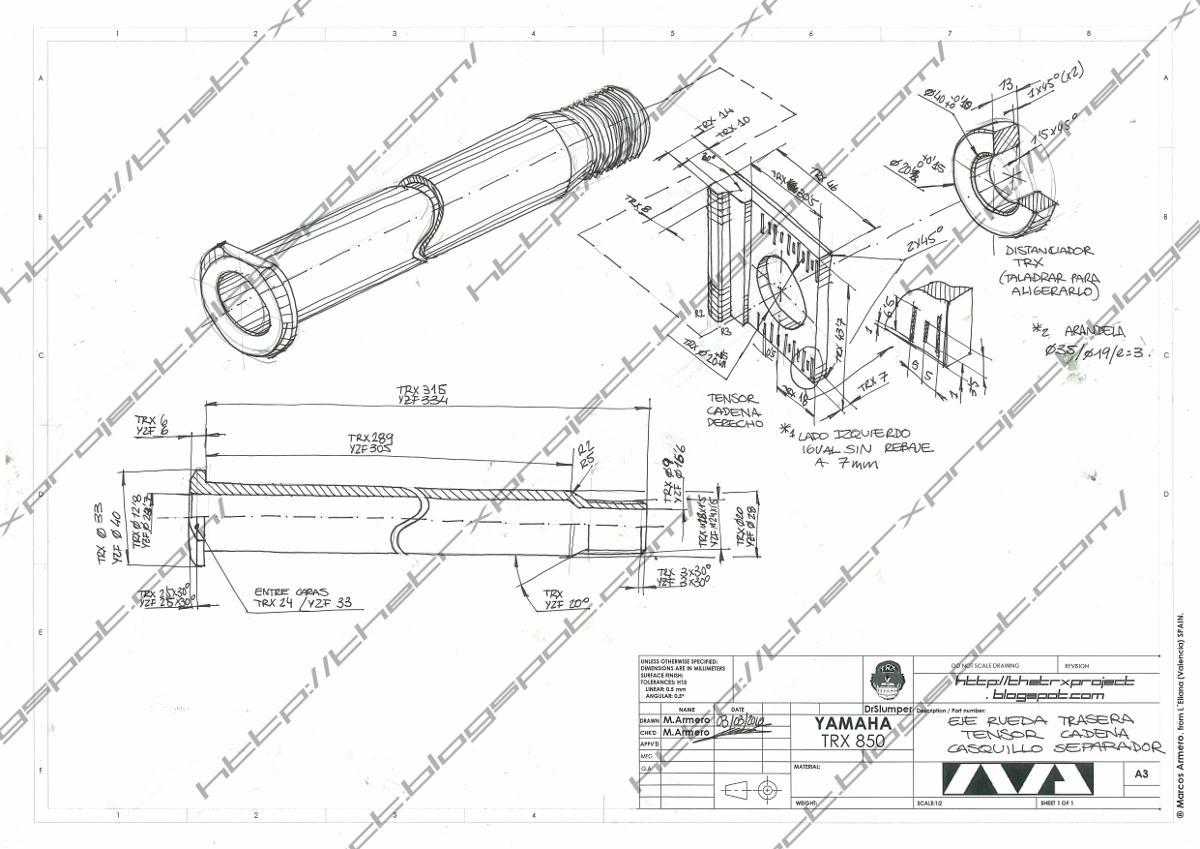 The TRX Project. The Yamaha TRX 850 blog: TRX Parts