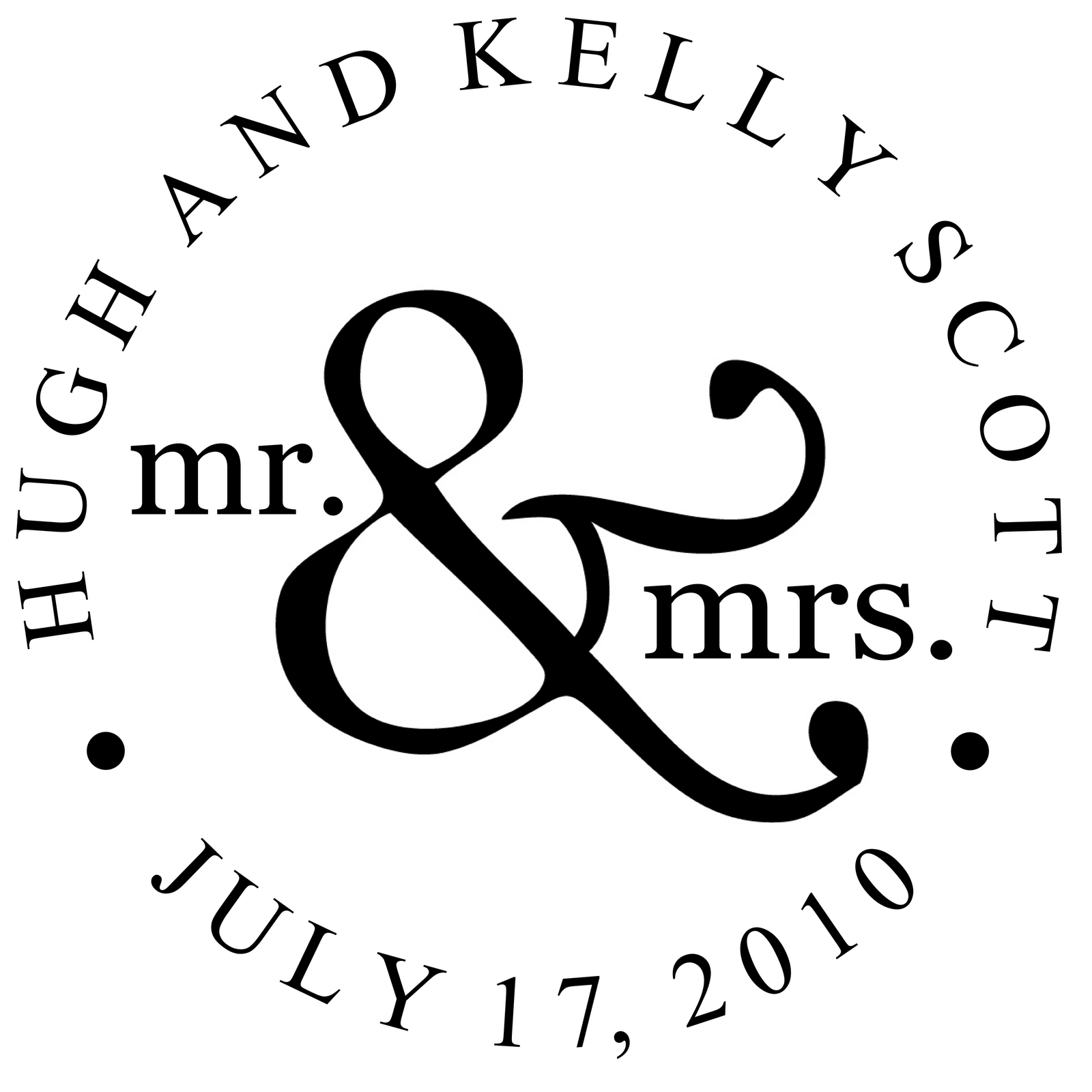 Signatures by Sarah: Wedding Monogram for client