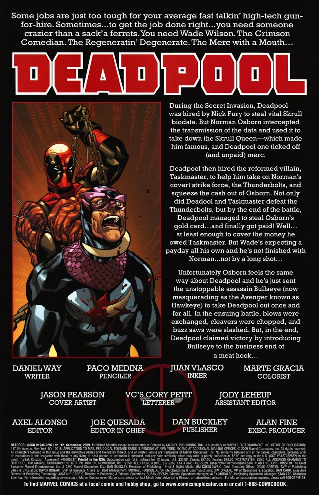 Read online Deadpool (2008) comic -  Issue #12 - 2