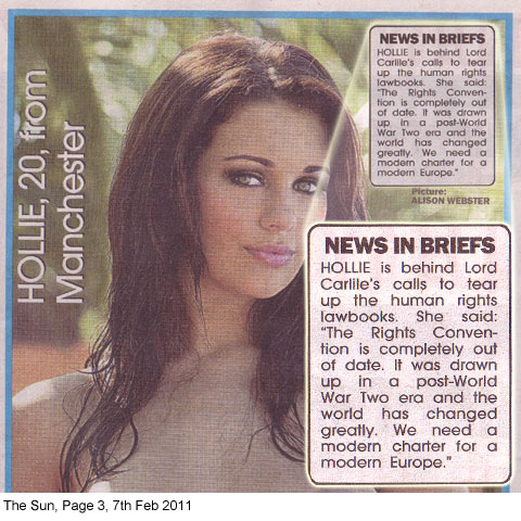 The Woman The Sun Page 3 >> The Sun Tabloid Lies Hollie 22 And Topless Gives Her