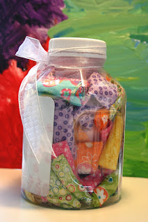 Kid Giddy Aka Kerry Goulder Sewing Patterns Crafts Diy Recipes And More Busy Monday Fabric Guesstimation Jar
