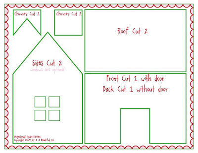 photo regarding Gingerbread House Templates Printable identified as Printable Paper Gingerbread Property Habits Pattern Consumer