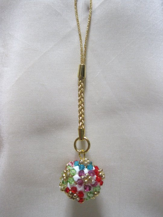 PERFECT CHRISTMAS PRESENT  SWAROVSKI CRYSTAL BALL KEYCHAIN 9faaf0b32