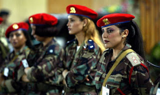 muammar gaddafi female bodyguards