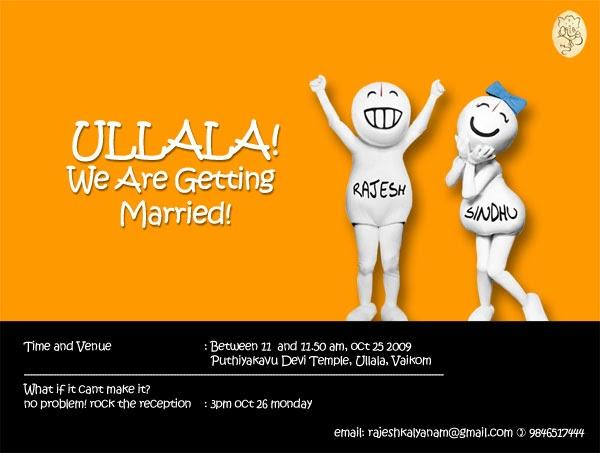 Email Wedding Invitation: Custom Email Greeting Cards: Zoozoo Theme Wedding Invitation