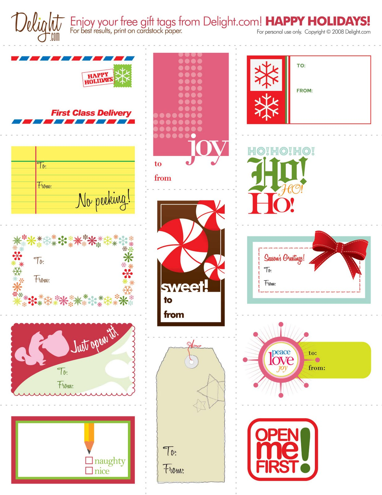 The Creative Place: DIY: Free Printable Gift Tags