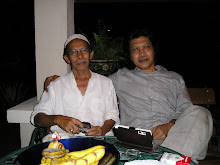 Emha Ainun Nadjib and his friend, the Malaysian writer, Datuk Bahar Zain