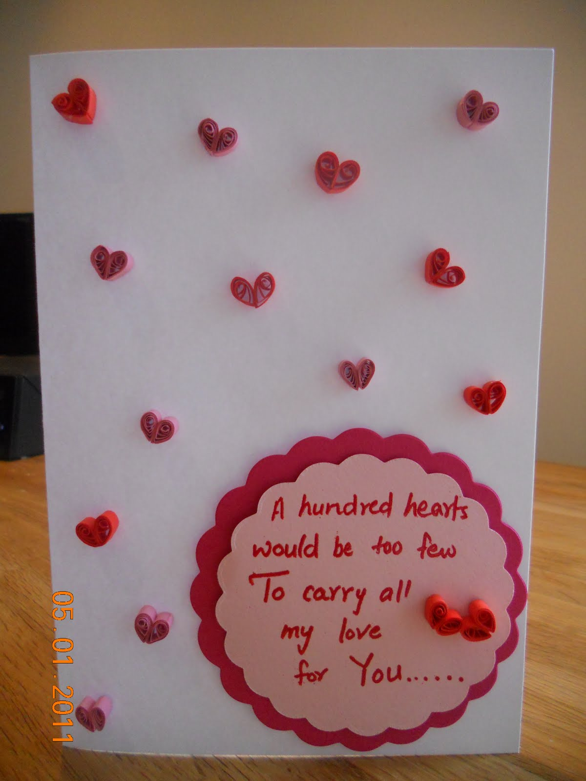 Quilled Valentines Day Cards  Sheetals Nook