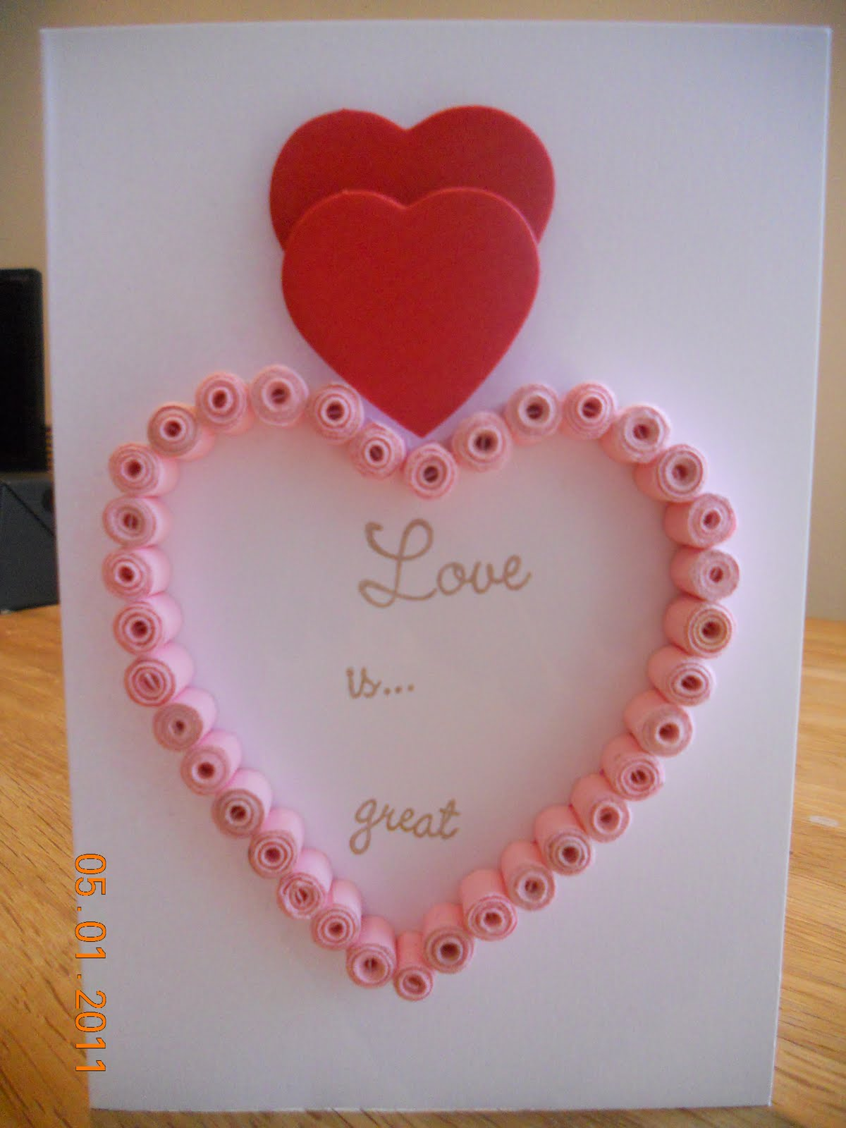 Quilling designs for valentine cards for Best quilling designs