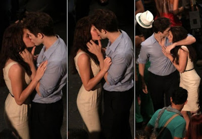 Edward and Bella kiss - Twilight 4 movie