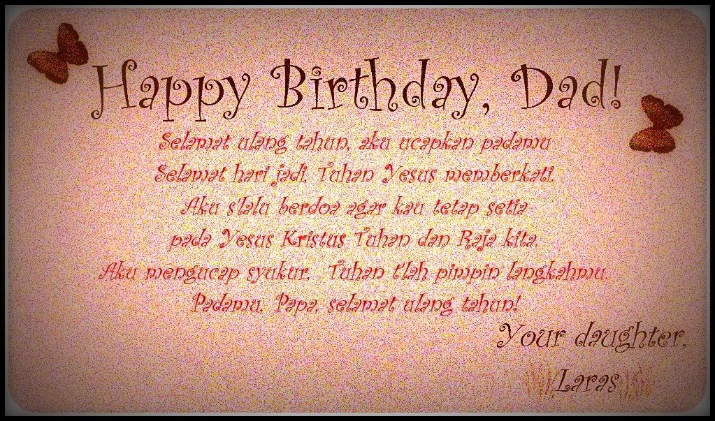 Happy Birthday Dad From Daughter Quotes. QuotesGram