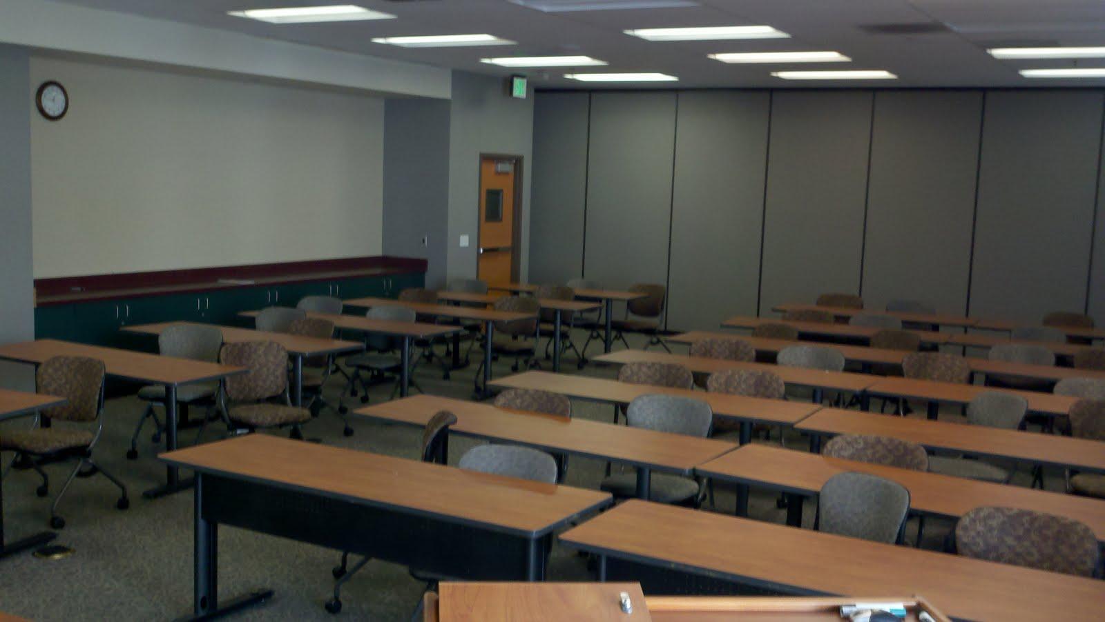 empty classroom with teacher - photo #23