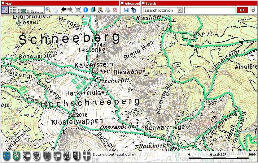 Online Terkepek Ausztria Domborzati Terkep 2