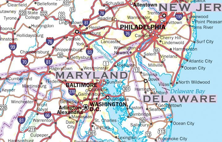 Map Us States Highways - Map united states major highways