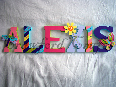 Custom Hand Painted Wooden Letters Alexis