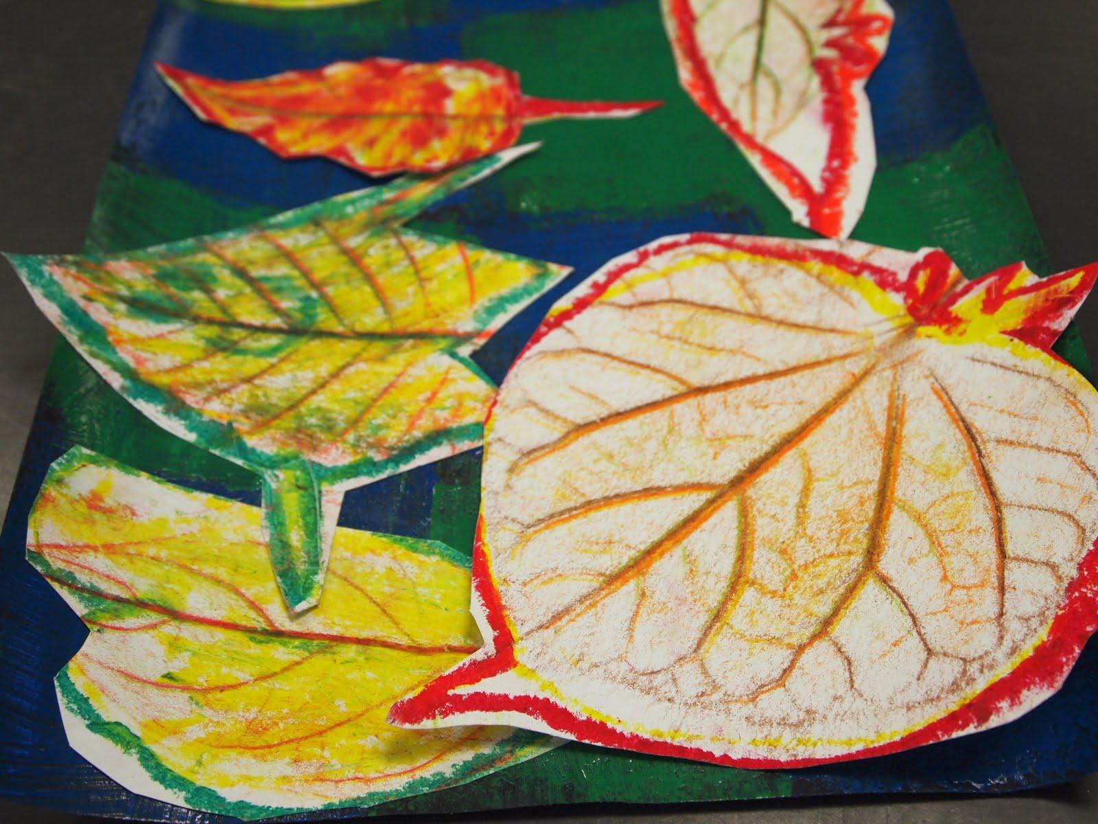 new city arts: kindergarten autumn leaves