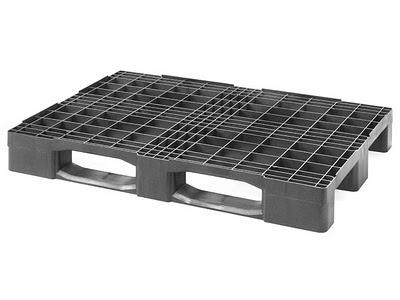 FORTE-Palet-plástico-PO-poliolefinas-PE-polietileno-Compacto-logístico-One-Way-Reja-EUR-1200x800x150mm