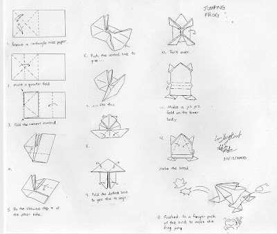 FROG ORIGAMI DIAGRAM « EMBROIDERY & ORIGAMI
