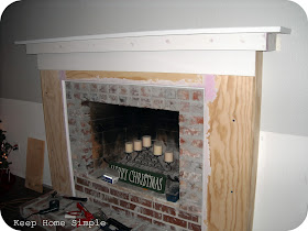 Keep home simple fabulous fireplace makeover - Red brick fireplace makeover ...