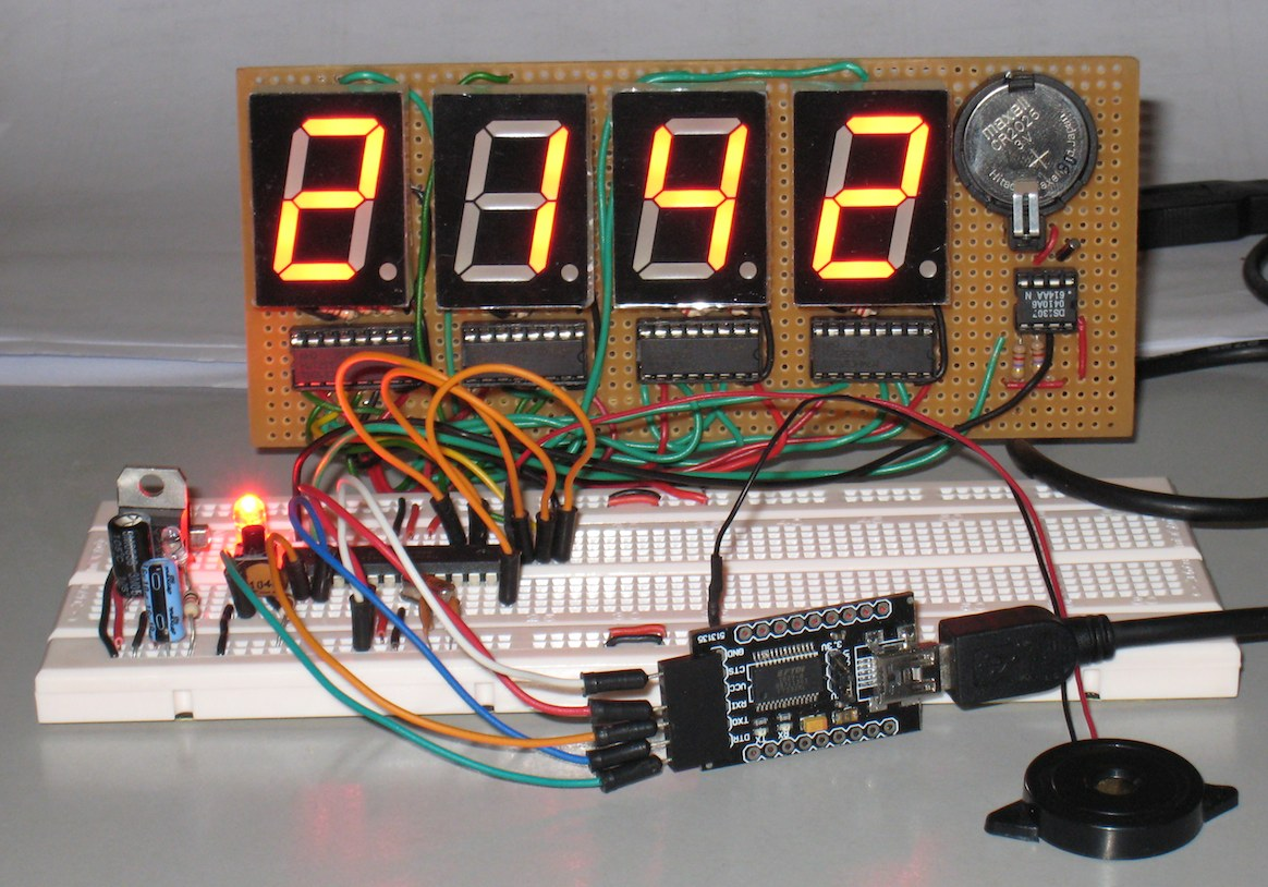 Arduino For Beginners Digital Clock With 7 Segments Led And Rtc Seven Segment Display System Uploading Sketch On
