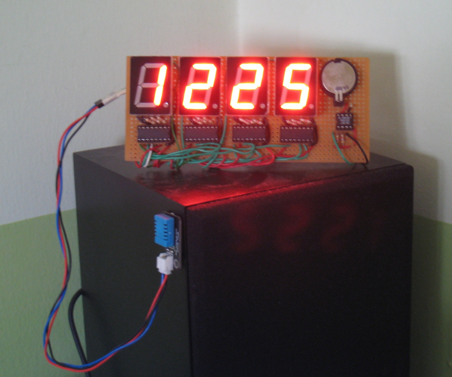 Arduino For Beginners Digital Clock With 7 Segments Led And Rtc In The Circuit Above Using Seven Segment Commond Anode Type Dht11 Sensor