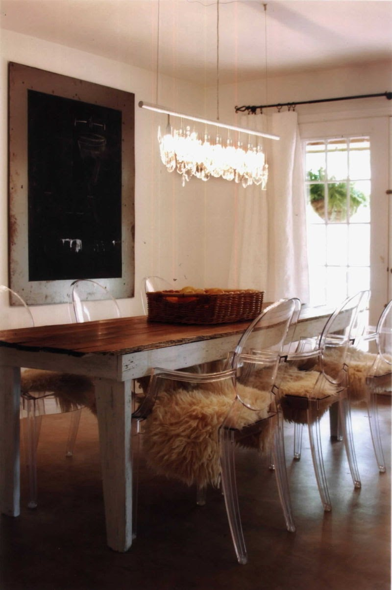 ghost chairs dining room | a blonde and a brunette: Freaky Friday: The Ghost Chair