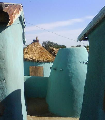 house without wall in ghana