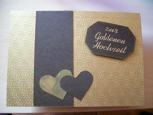 willkommen in meiner kleinen bastelwelt karten zur goldenen hochzeit. Black Bedroom Furniture Sets. Home Design Ideas