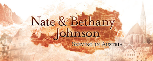 Nate and Bethany Johnson - Serving in Austria: Church Announcement (Hear us speak German!)