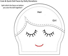 Dolly Donations: Cute & Quick Hand Stitched Doll Faces
