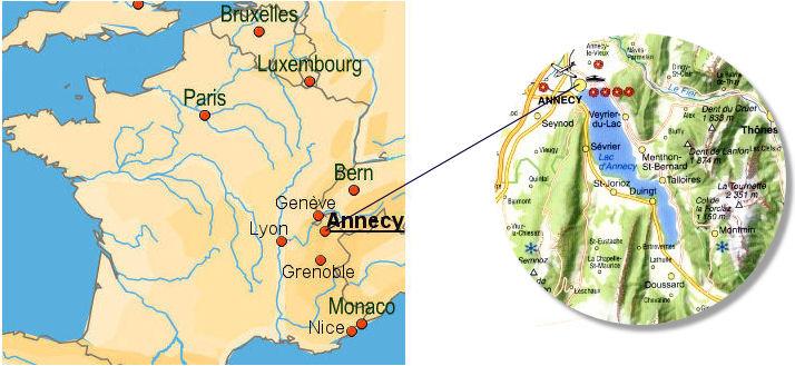 annecy kart geneveskolen2010: Annecy annecy kart