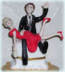 rude wedding cake toppers look at this white trash wedding 19454