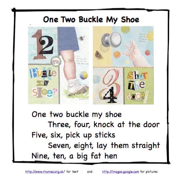 Image result for 1 2 buckle my shoe nursery rhyme