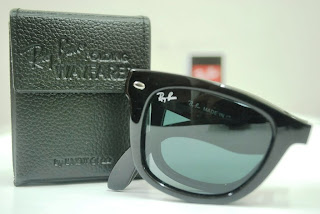 c080eb6a81e ... low price new ray ban wayfarer folding rb4105 black crystal green  polarized 50mm 601 58 5022