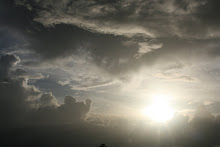 The sun and clouds in Tobago
