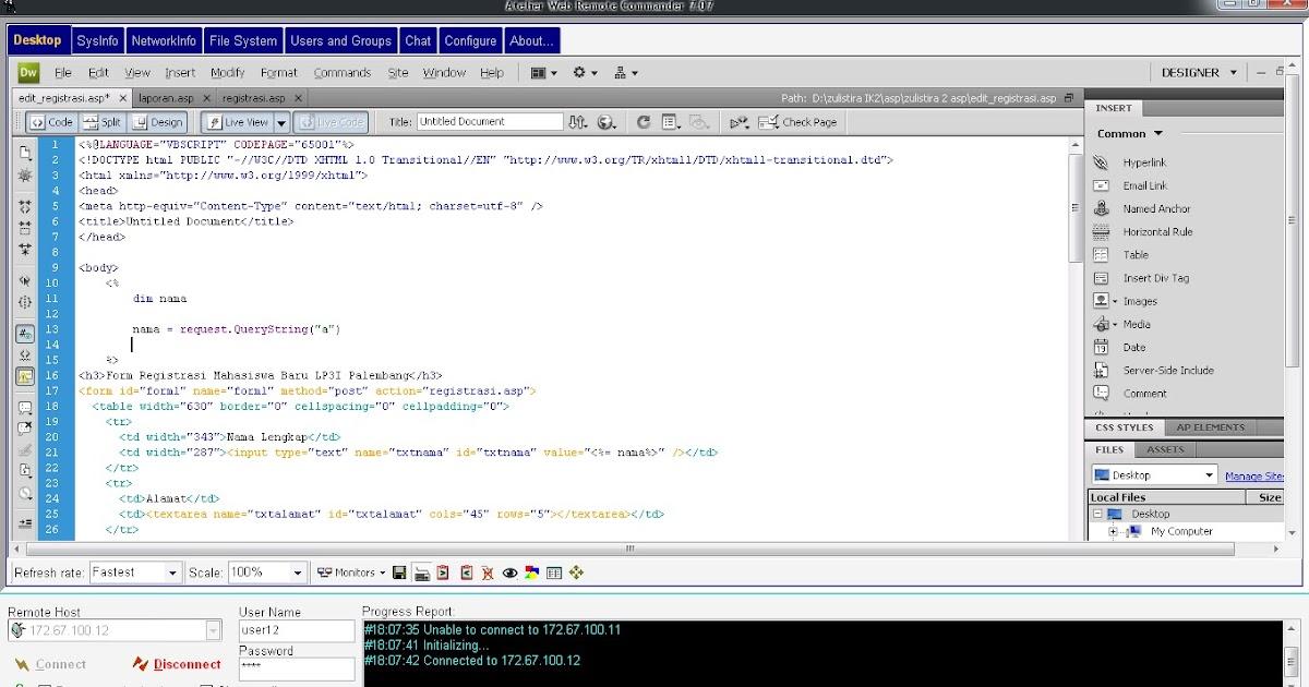 atelier web remote commander 8.05