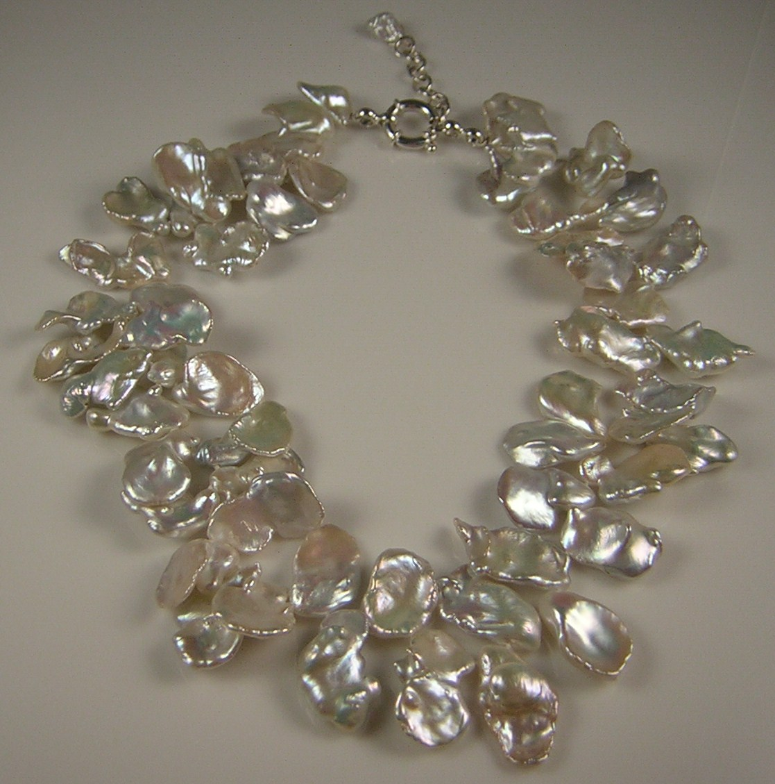 Pearls By Fox: 20mm Keshi / Poppy Pearl Necklace