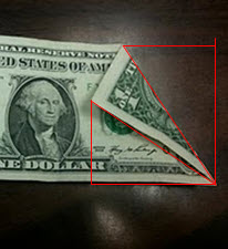 Quite Clearly The Folded Portion Is The Same Angle As The Triangle Where It Would Be Unfolded So Those Two Angles Are Congruent And The Third Angle