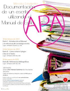 Documentación de un escrito utilizando el Manual de Estilo APA