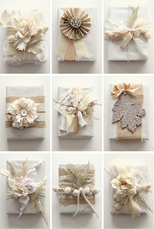 white wardrobe: christmas gift wrapping ideas