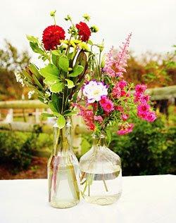 flores garrafa Arranjos em garrafas