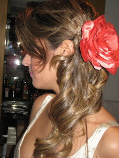 5 Flor no cabelo...!