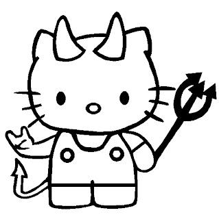 Hello Kitty è stata cattiva, colorala di rosso!