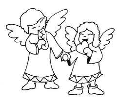 disegni da colorare sugli angeli di natale
