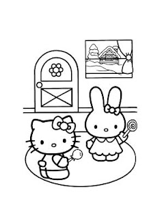 disegni da colorare di hello kitty per decorazioni di Natale