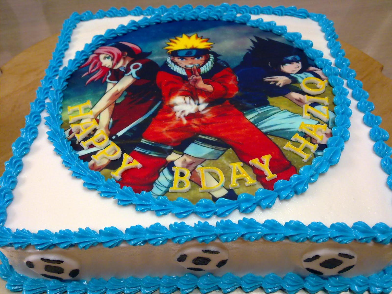 Masterpiece Home Made Cakes Cartoon Character Naruto