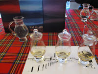 tasting glasses at balblair