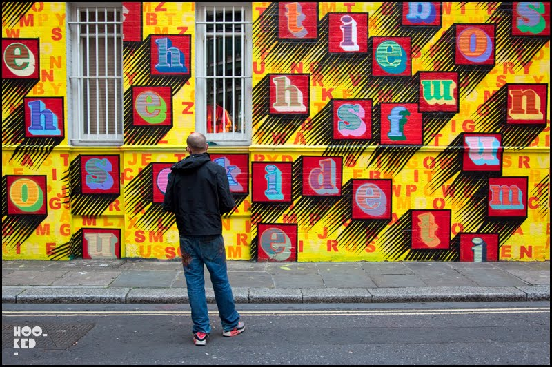 Ben Eine — Middlesex Street Art Mural in London