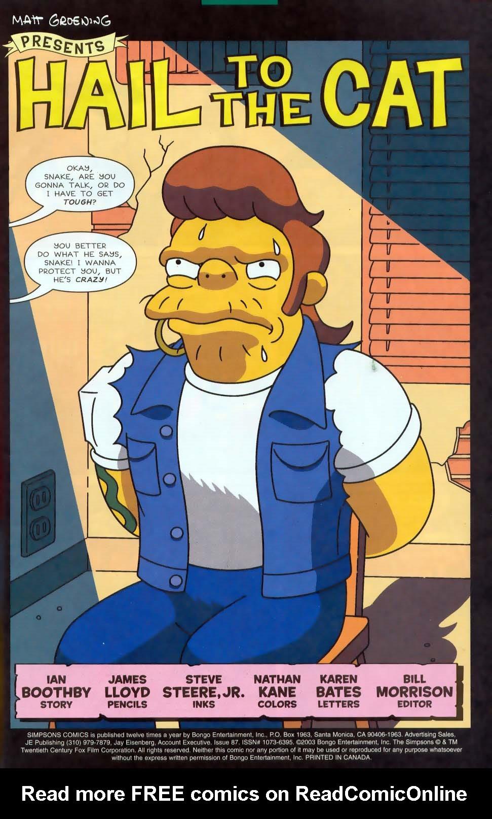 Read online Simpsons Comics comic -  Issue #87 - 2