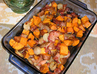 Sweet Potatoes with Bacon and Shallots